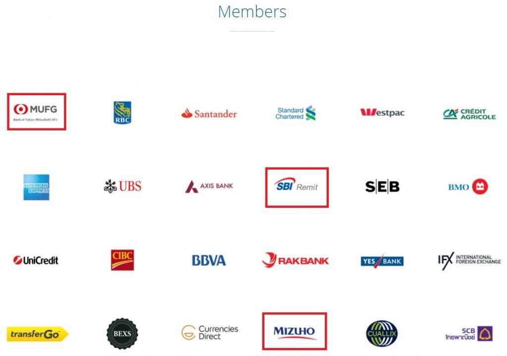 リップル提携企業