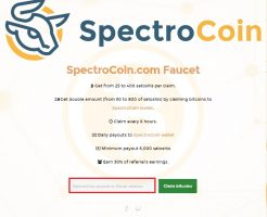 SpectroCoin.com Faucet スペクトロコイン